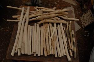 44 stokken van olijfhout