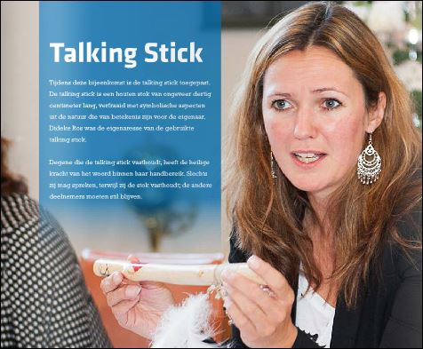Talking stick bij Flock Leadership vrouwen